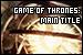 Djawadi, Ramin: Game of Thrones Theme: